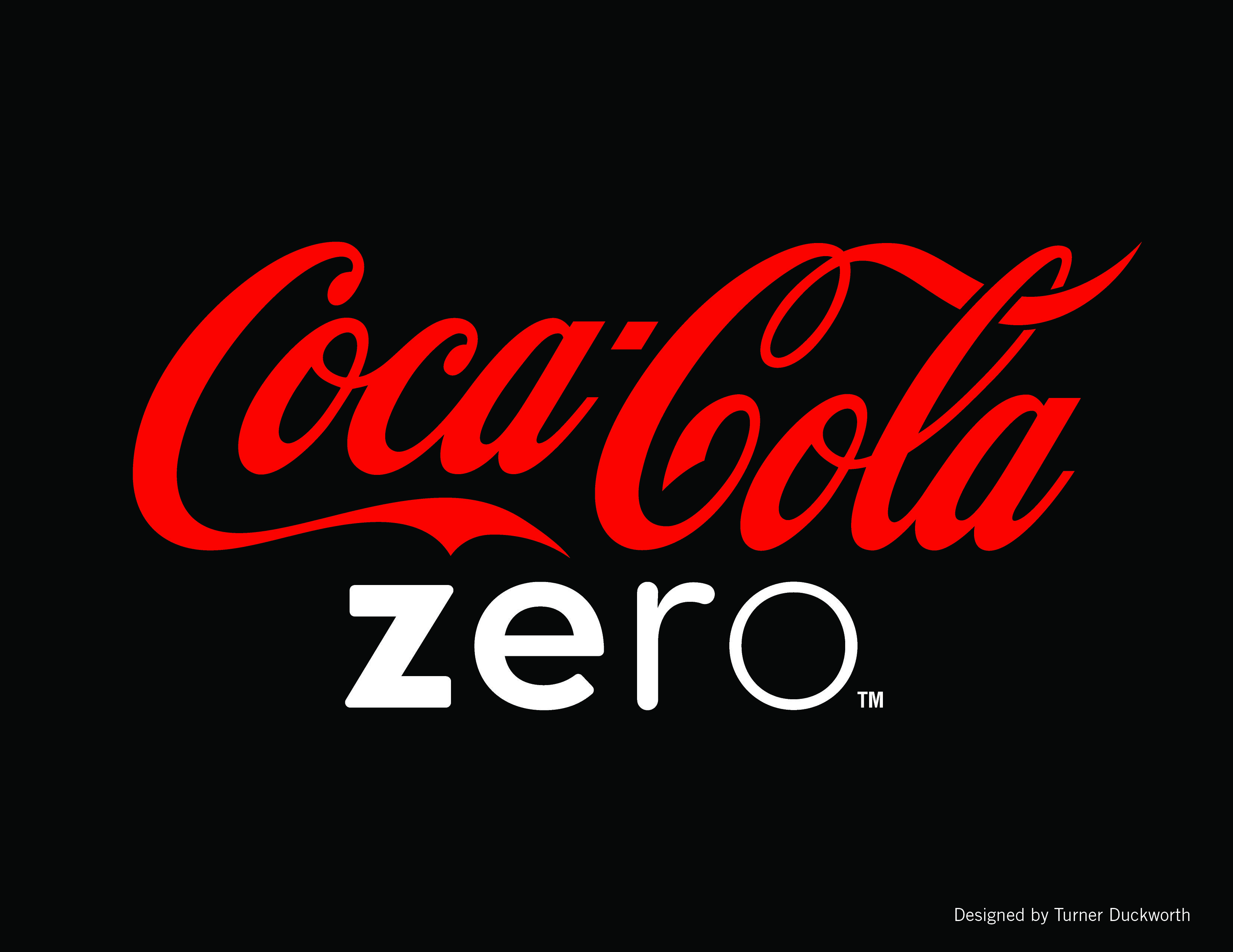Coca Cola ZERO Logo Design By Turner Duckworth