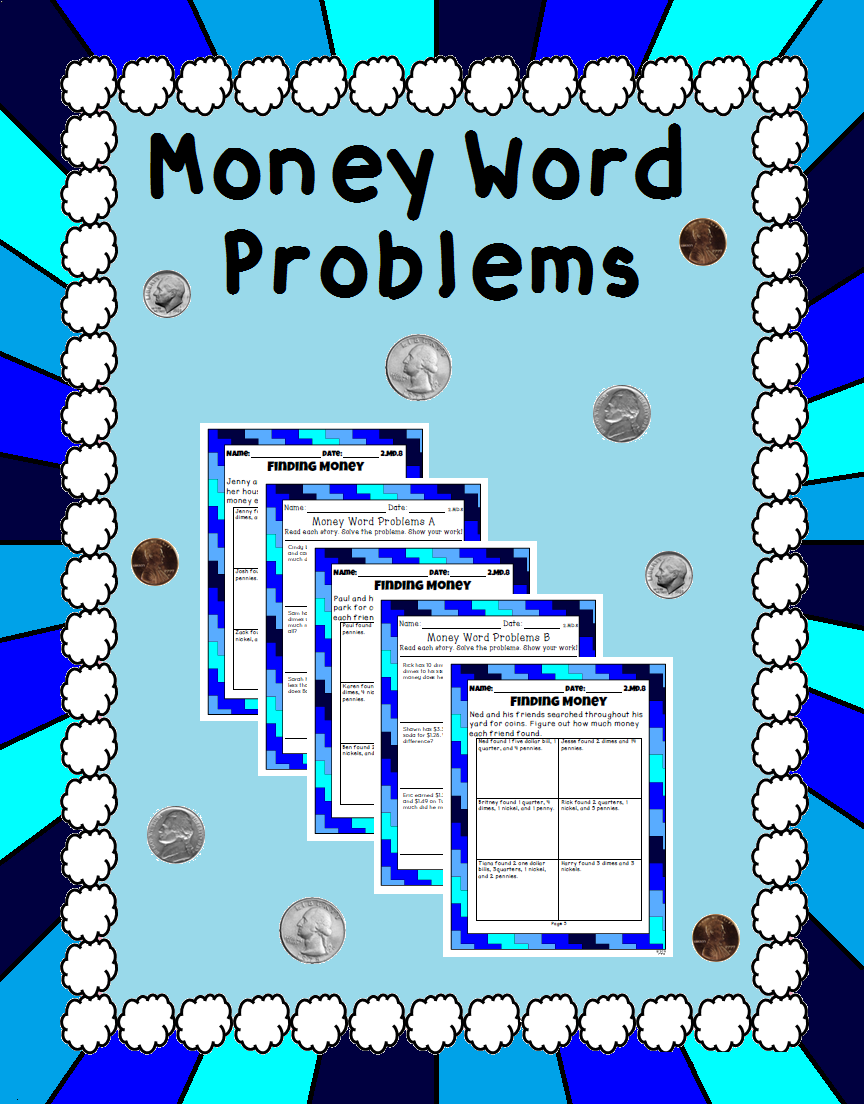 Money Word Problems - 2.MD.8 | Pinterest | Word problems, Worksheets ...