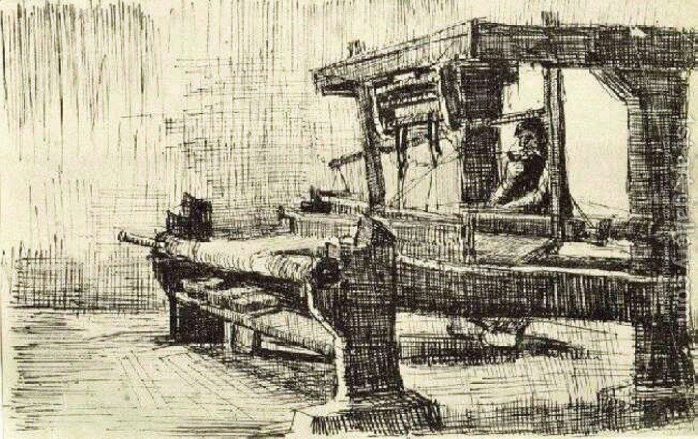 Weaver Facing Left Painting By Vincent Van Gogh Reproduction 1st Art Gallery Van Gogh Art Van Gogh Museum Vincent Van Gogh