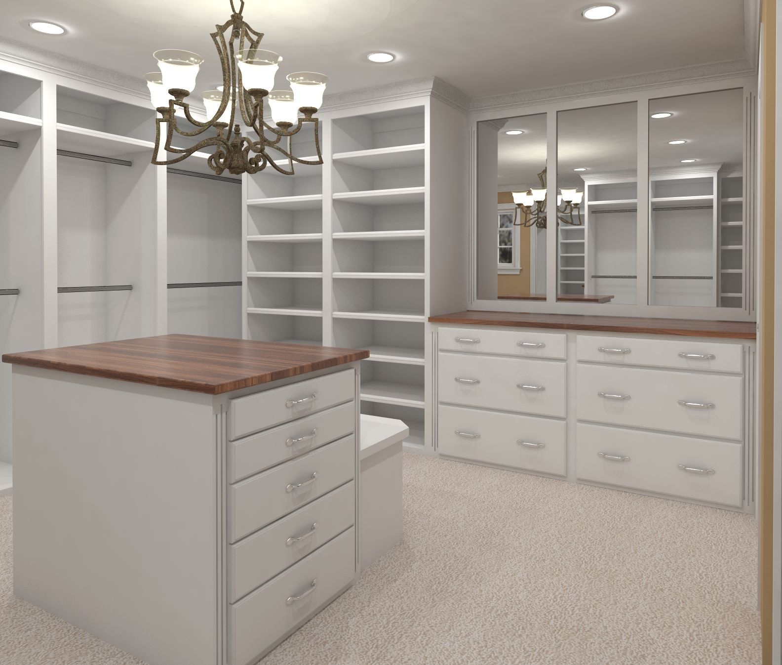 White Custom Closets