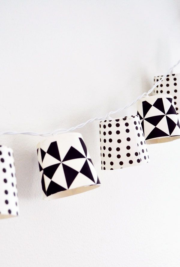 Mormorsglamour- pyssel och inredning: Papercup garland