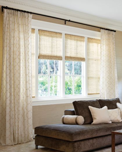 Natural Woven Waterfall Shades Color Fiji Natural 13555