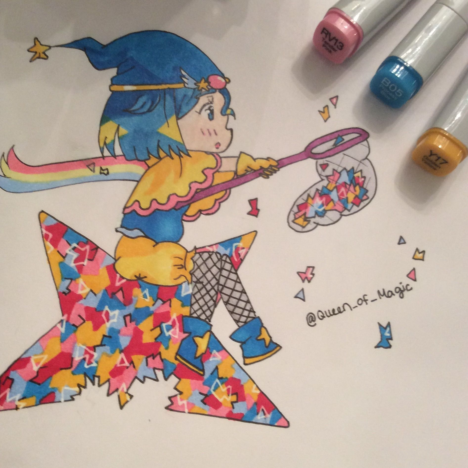 Chibi Drew And Colored With Copic Markers. Christmas