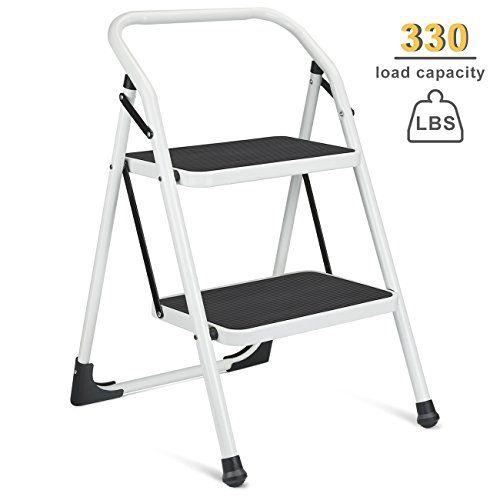Superb Delxo 2 Step Ladder Portable Step Stool With Handgrip Ant Machost Co Dining Chair Design Ideas Machostcouk