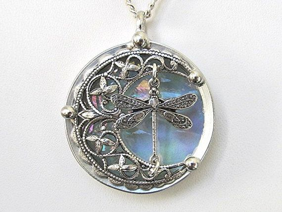 Stained glass pendant necklace celtic crescent moon dragonfly celtic moon jewelry stained glass pendant necklace celtic crescent moon dragonfly aloadofball Image collections
