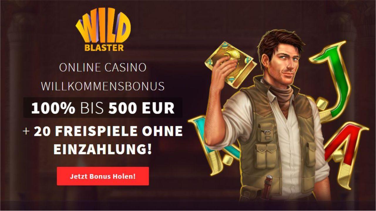 Wildblaster Casino Bonus mit 20 Freispiele ohne Einzahlung am Book of Dead - was…