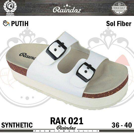 Sandal Wanita Rak 021 Original Raindoz Warna Putih Bahan