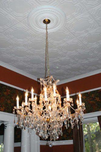 Faux Ceiling Tile 20x20 Caracas White Foam Decorative Tiles