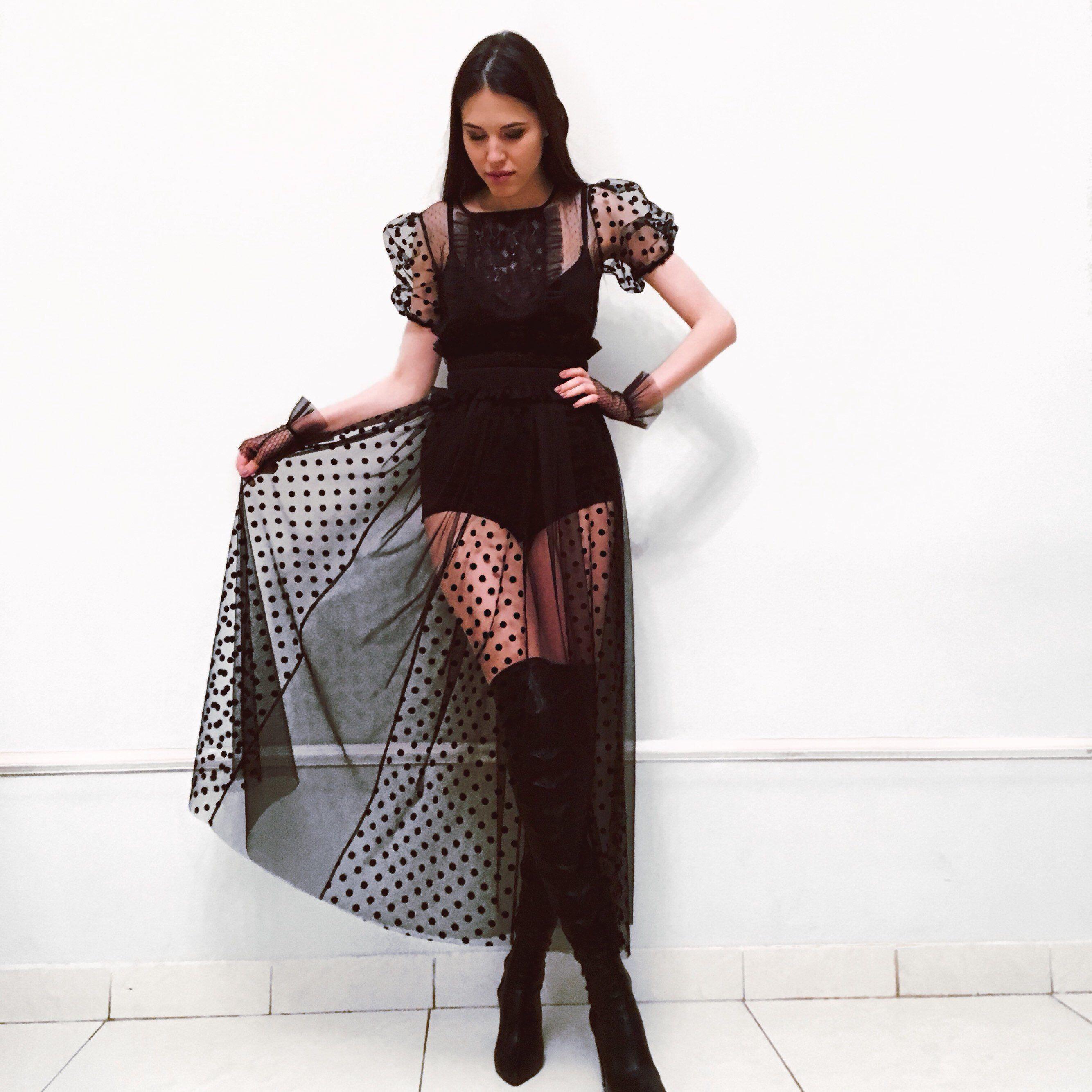42++ Long black sheer dress ideas