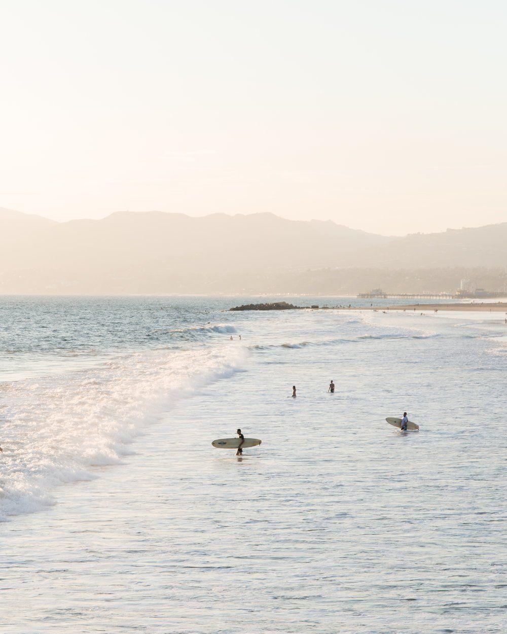 Venice Beach Sunset Surf Print