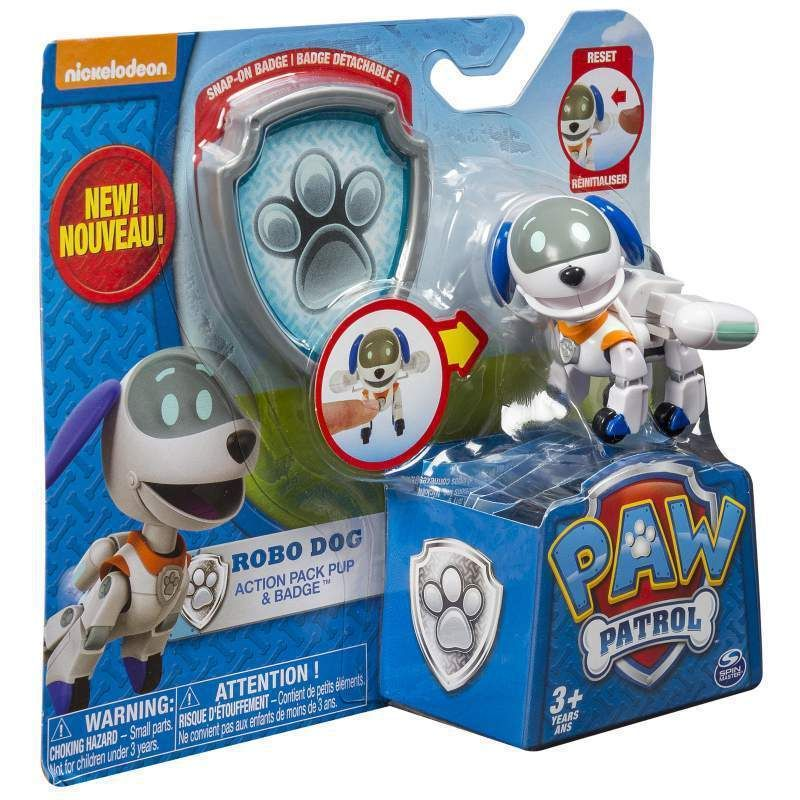 Nickelodeon Paw Patrol Robo Dog Action Pack Pup Badge New In