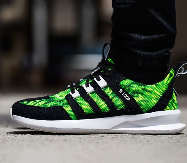 adidas Originals SL Loop Runner - Green / Black - White