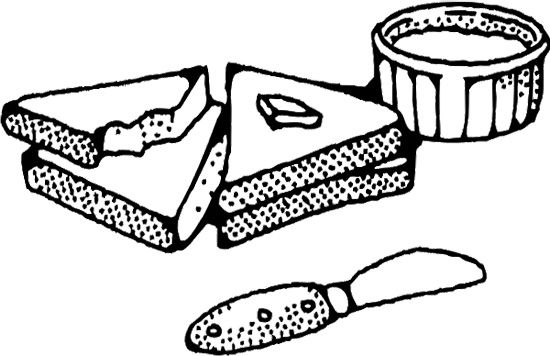 Sliced Bread With Butter Coloring Page Coloring Pages For Kids