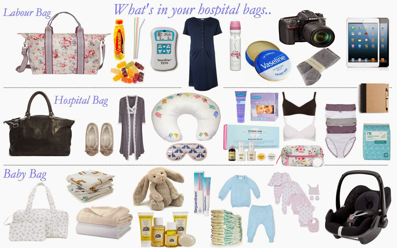 What to pack in your hospital bag? The 3 bags you need for ...
