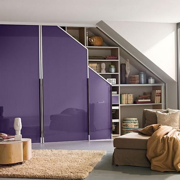 Customized Closet Designs For Small Rooms With Sloped Roofs