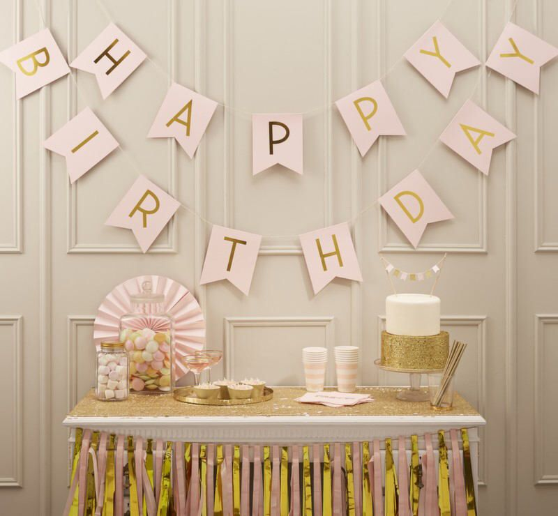 Party Bunting Diy Birthday 18th Decor 21st Decorations