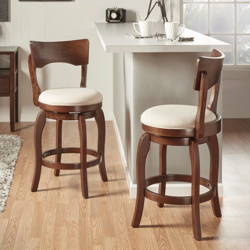 Weston Home 24 In Swivel Armless Counter Stool Counter Stools