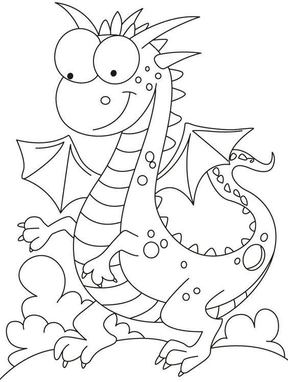 Ficha para colorear el dragón de sant Jordi. Ideas para trabajar en ...