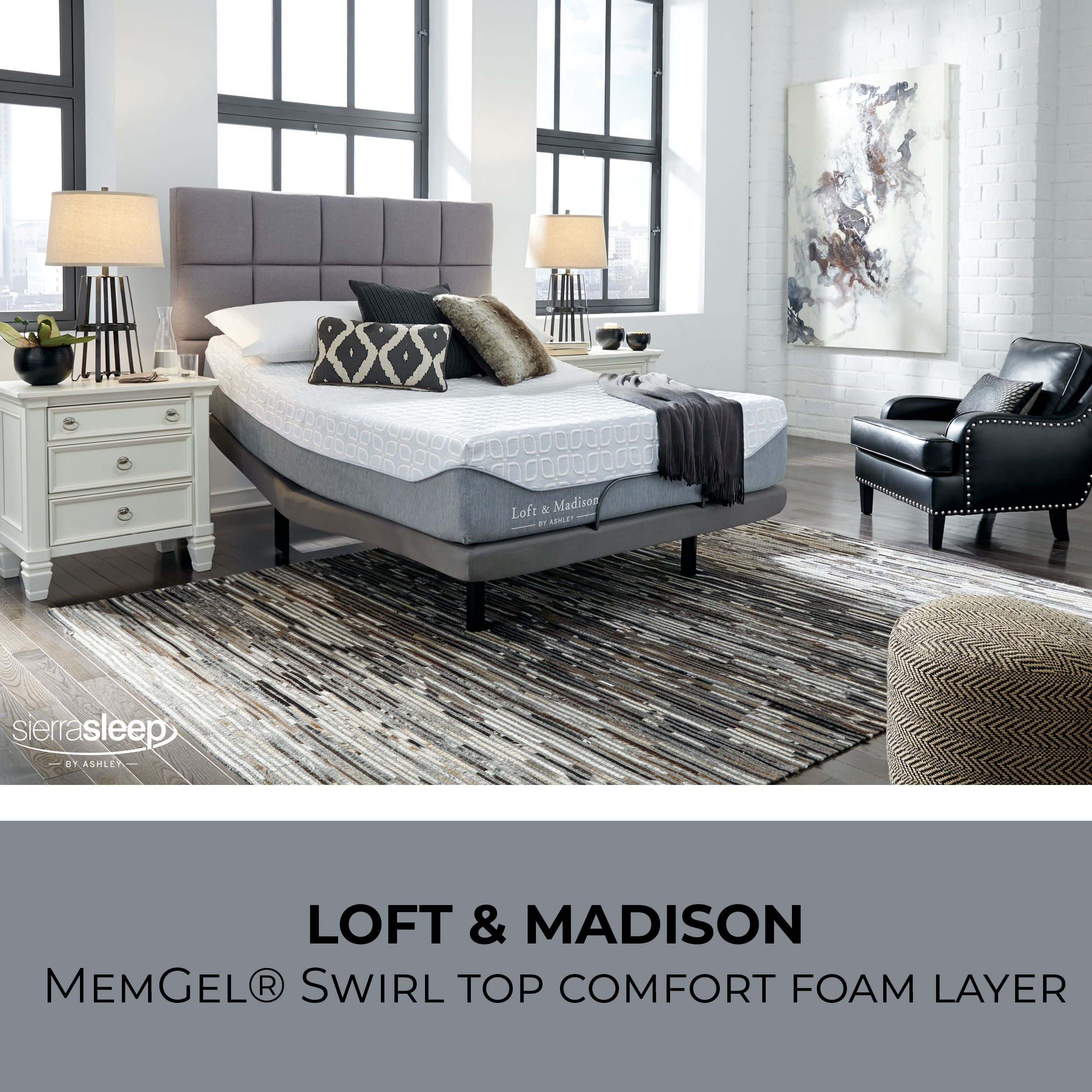 Loft And Madison Memgel Swirl Top Comfort Layer White Sierra Sleep