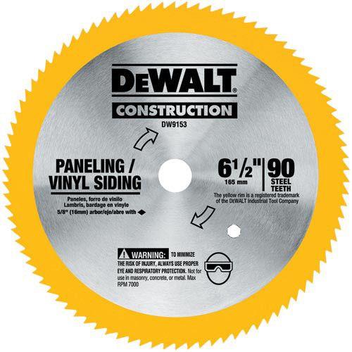 Dewalt Dw9153 6 1 2 In 90 Tooth Circular Saw Blade Circular Saw Blades Dewalt Circular Saw Circular Saw