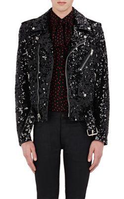 886e3dd9894 SAINT LAURENT Sequin-Embellished Leather Moto Jacket. #saintlaurent #cloth # jacket