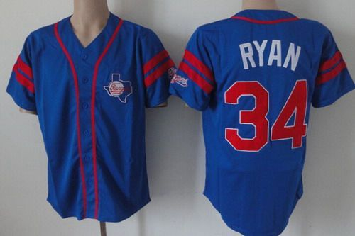 quality design 9daf1 77095 texas rangers 34 nolan ryan blue throwback jersey