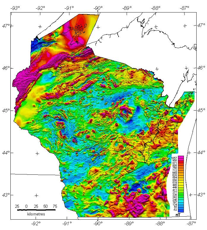 Map Of The Day June Aeromag Survey Of Wisconsin Wisconsin - Maps of wisconsin