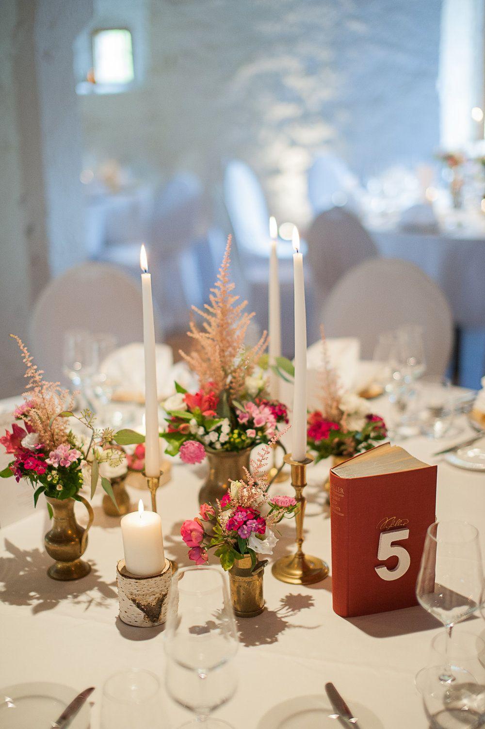 Tischfloristik Messing Gold Vintage Pink Birkenholz Birke Von