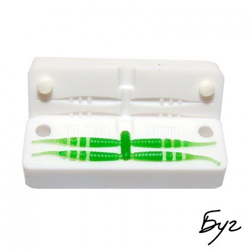 Fishing Worm Bait Molds Soft Plastic Lures Baits Tackle Lure