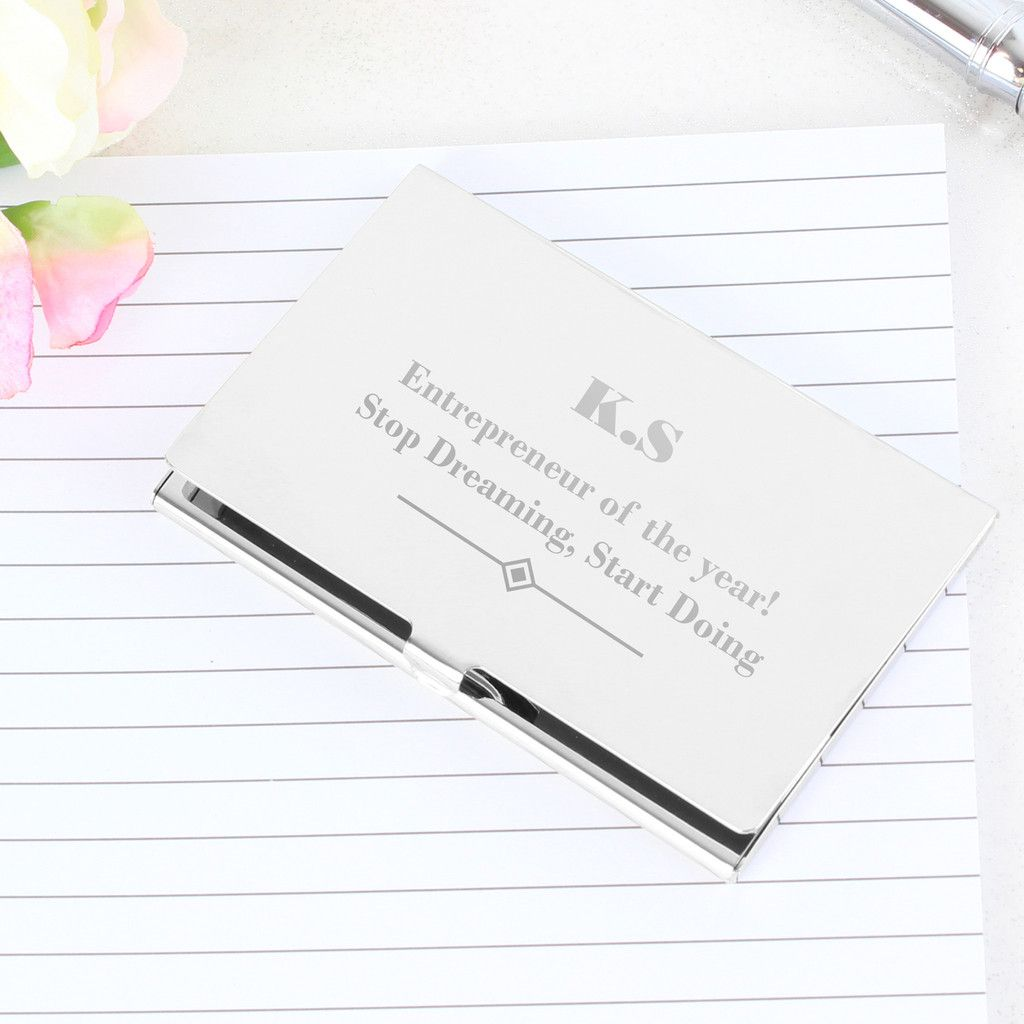 Personalised Art Deco Business Card Holder | Products, Art and Card ...