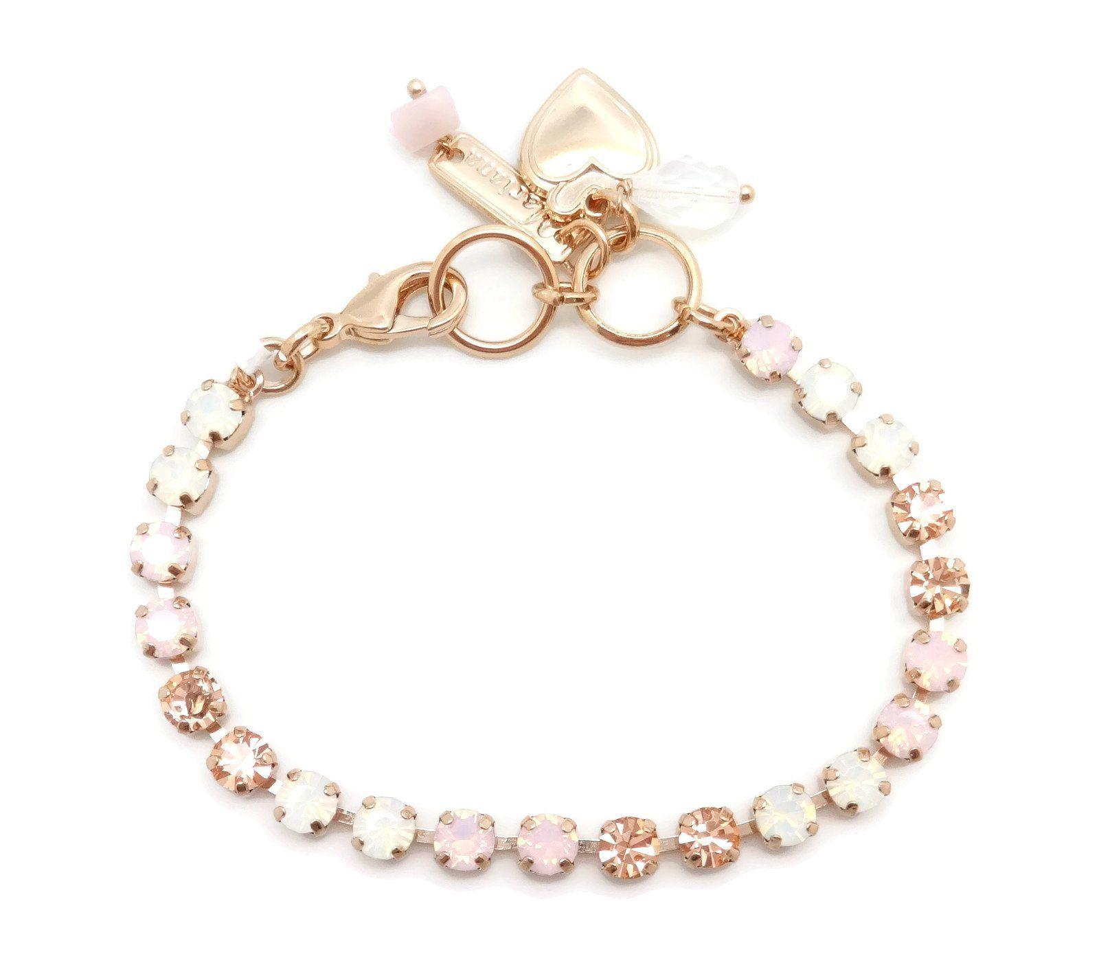 Mariana rose gold plated swarovski crystal bracelet roster u lt