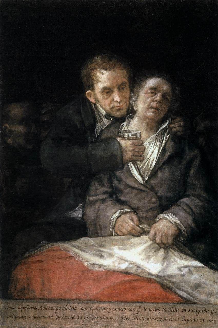 Goya asistido por el doctor Arrieta.