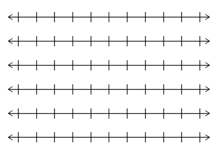 Blank Numbers Lines Tenths Number Line Complex Sentences Fifth Grade Math
