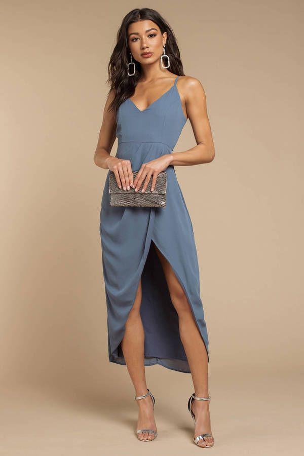 Erin Draped Maxi Dress #weddingguestdress