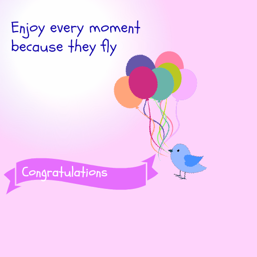Baby shower messages my practical baby shower guide baby shower baby shower message greeting card enjoy every moment because they fly click to download this free greeting baby shower card m4hsunfo