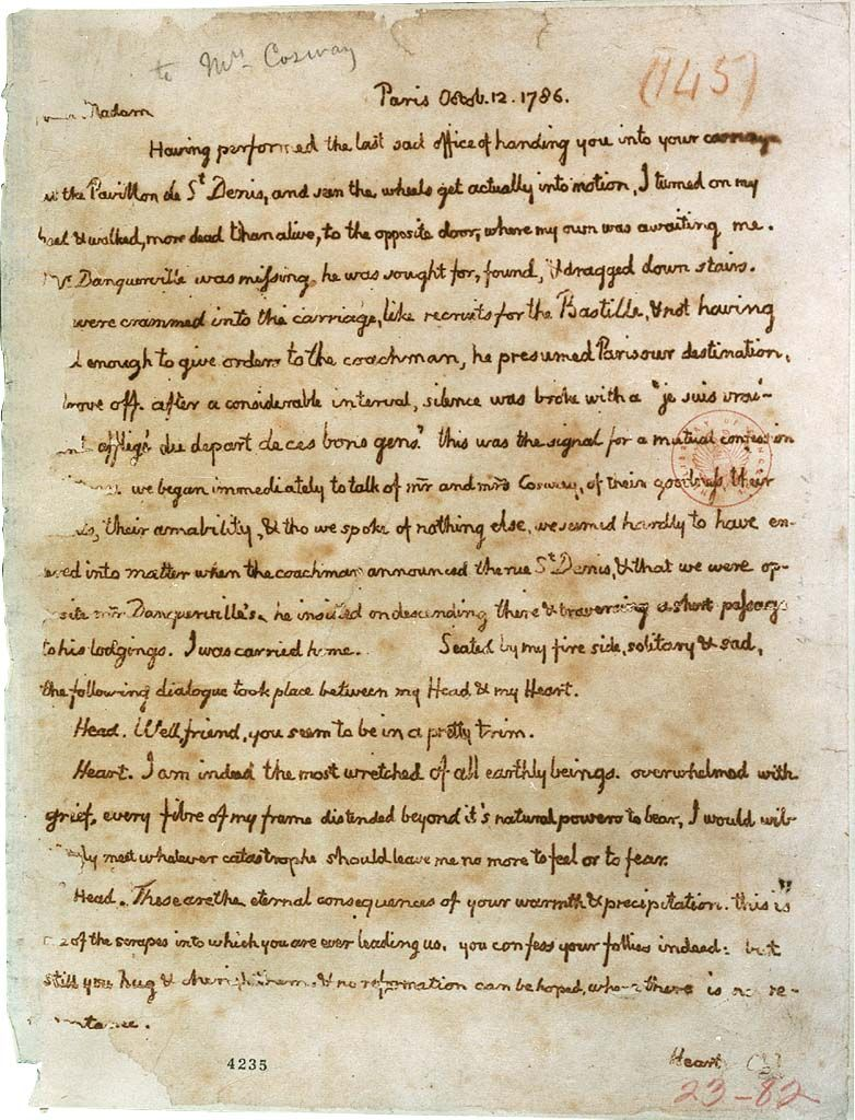 Thomas Jefferson Love Letter To Maria Cosway