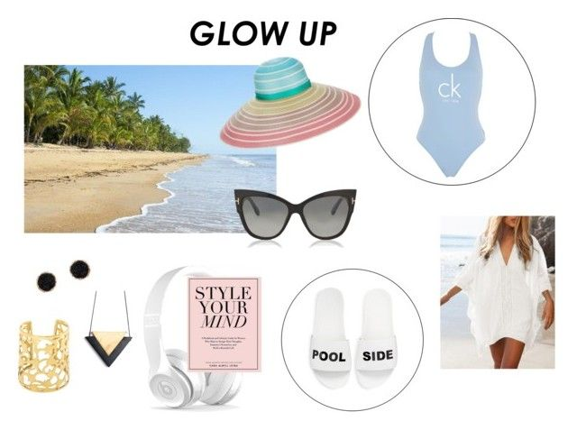 """""""Glow up - Beachwear 1"""" by millawonderland on Polyvore featuring Calvin Klein, Schutz, Tom Ford, Missoni and Humble Chic"""