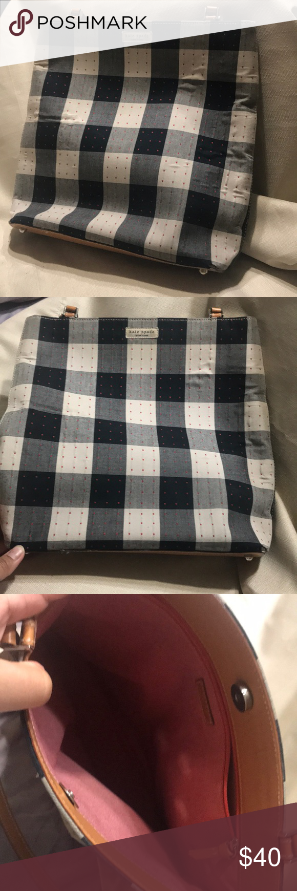 Kate Spade checkered purse in 2020 Kate spade bag, Kate