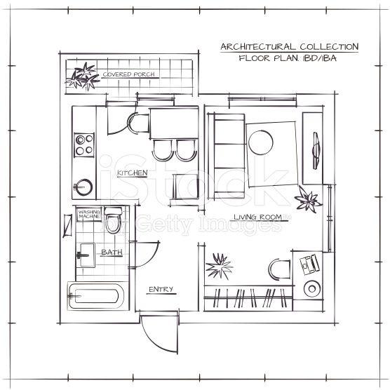 Hand Drawn Floor Plan Floor Plan Sketch Architect Drawing Plan Sketch