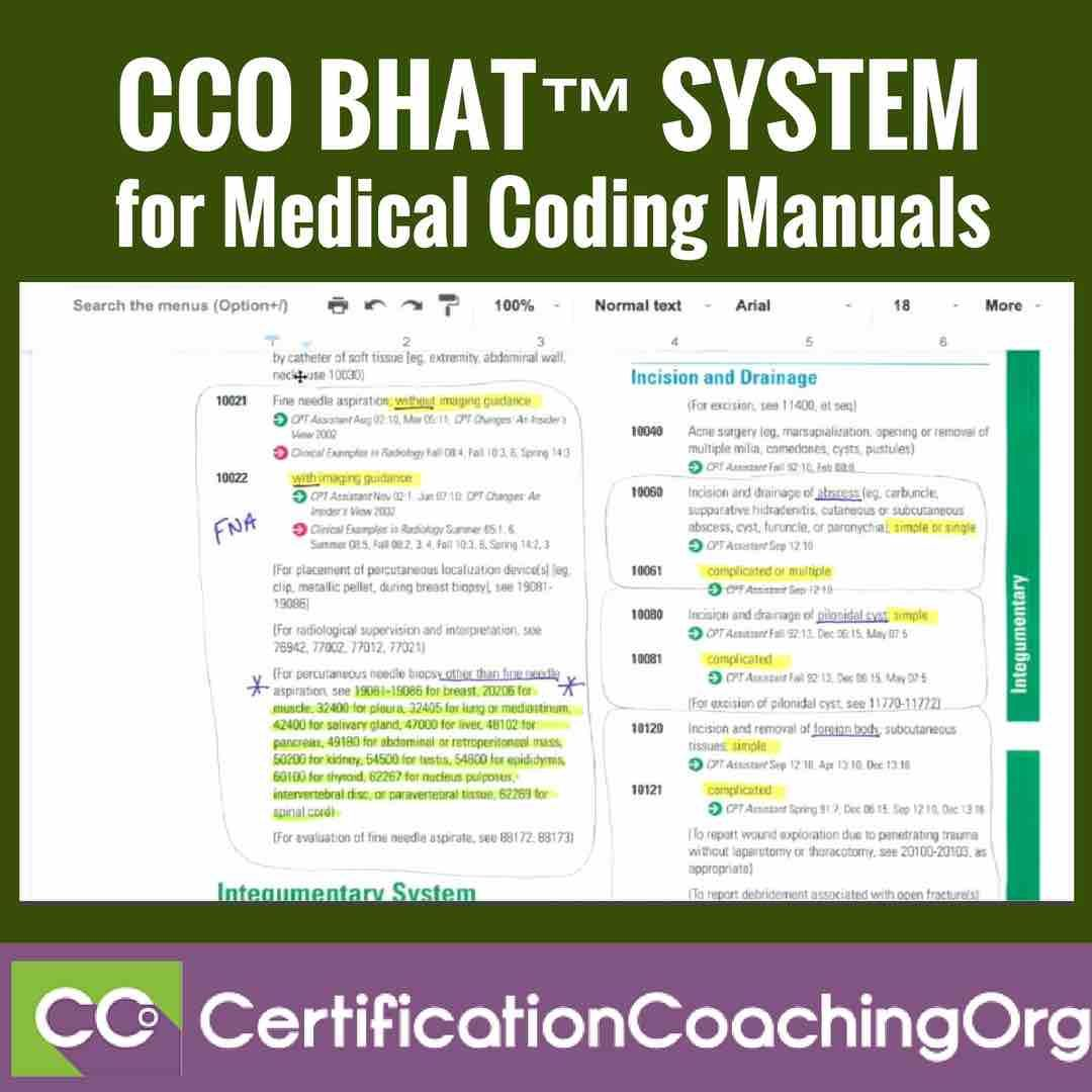 Learn About The Cco Bhat System For Medical Coding Manuals Read On