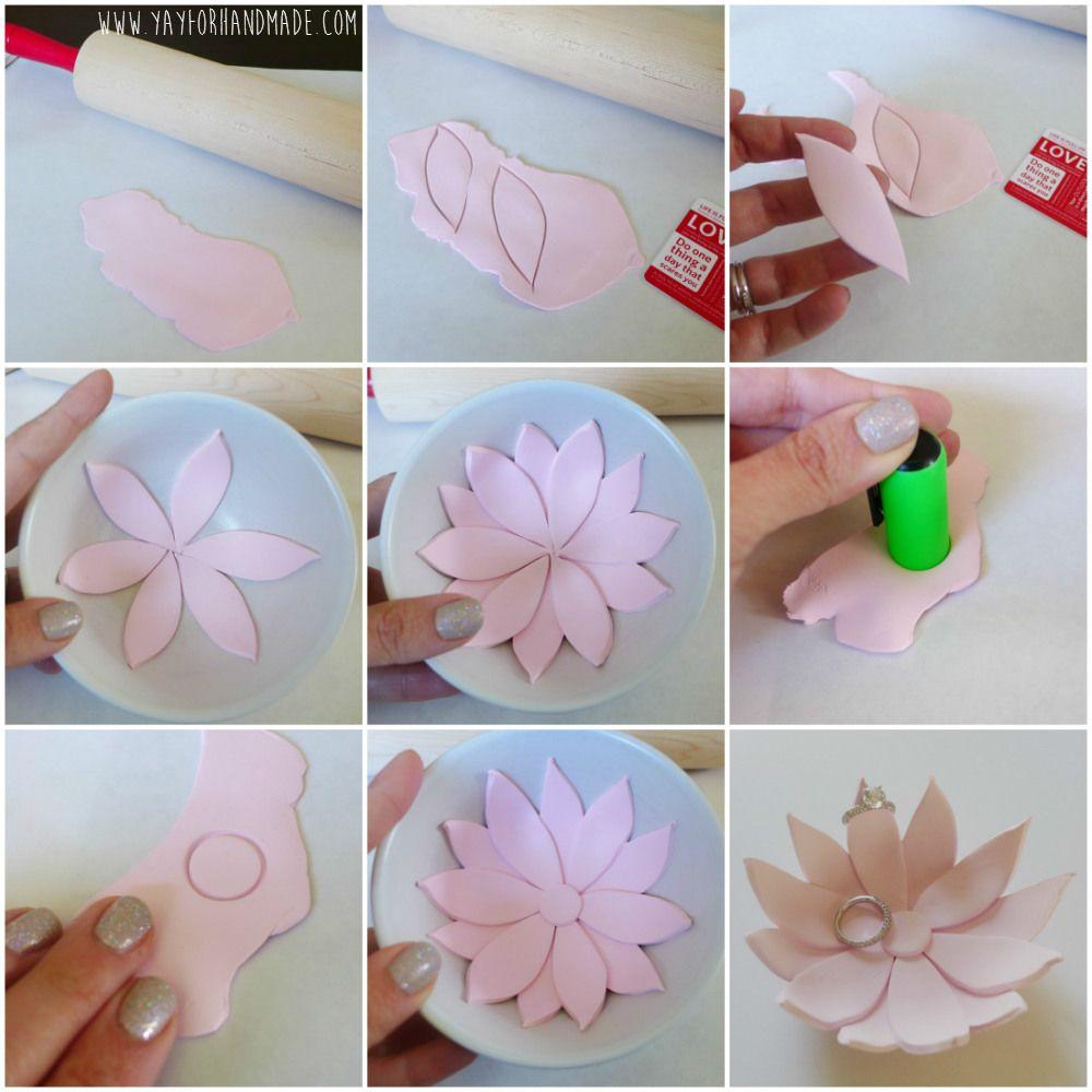 Diy Lotus Flower Ring Holder Tutorial Yay For Handmade Crafts
