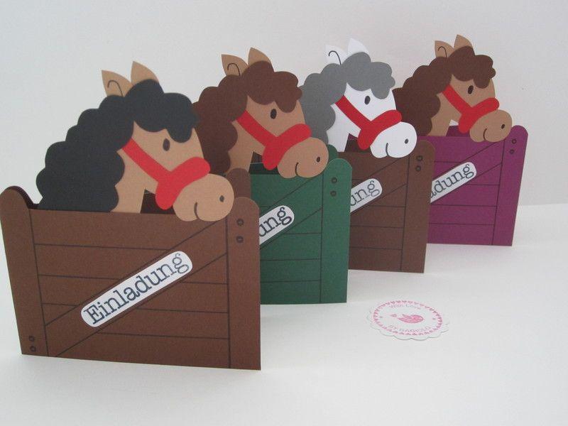 einladungen einladungskarten kindergeburtstag pferde ein designerst ck von bagiolo bei. Black Bedroom Furniture Sets. Home Design Ideas