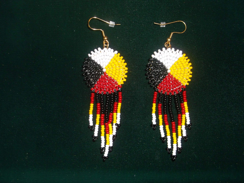 Native American Earrings Medicine Wheel Native American