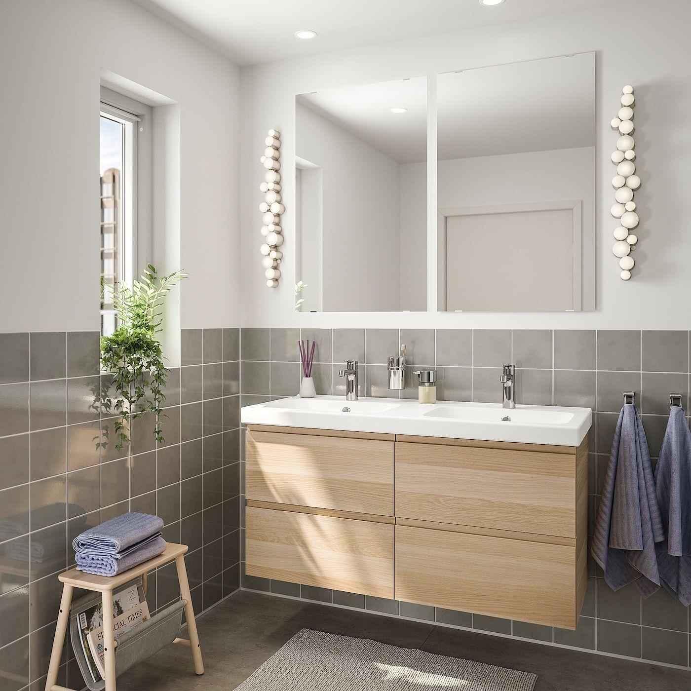 Godmorgon Odensvik Badeinrichtung 6 Tlg Eicheneff Wlas Brogrund Mischbatterie Ikea Osterreich Bad Einrichten Ikea Godmorgon Mischbatterien