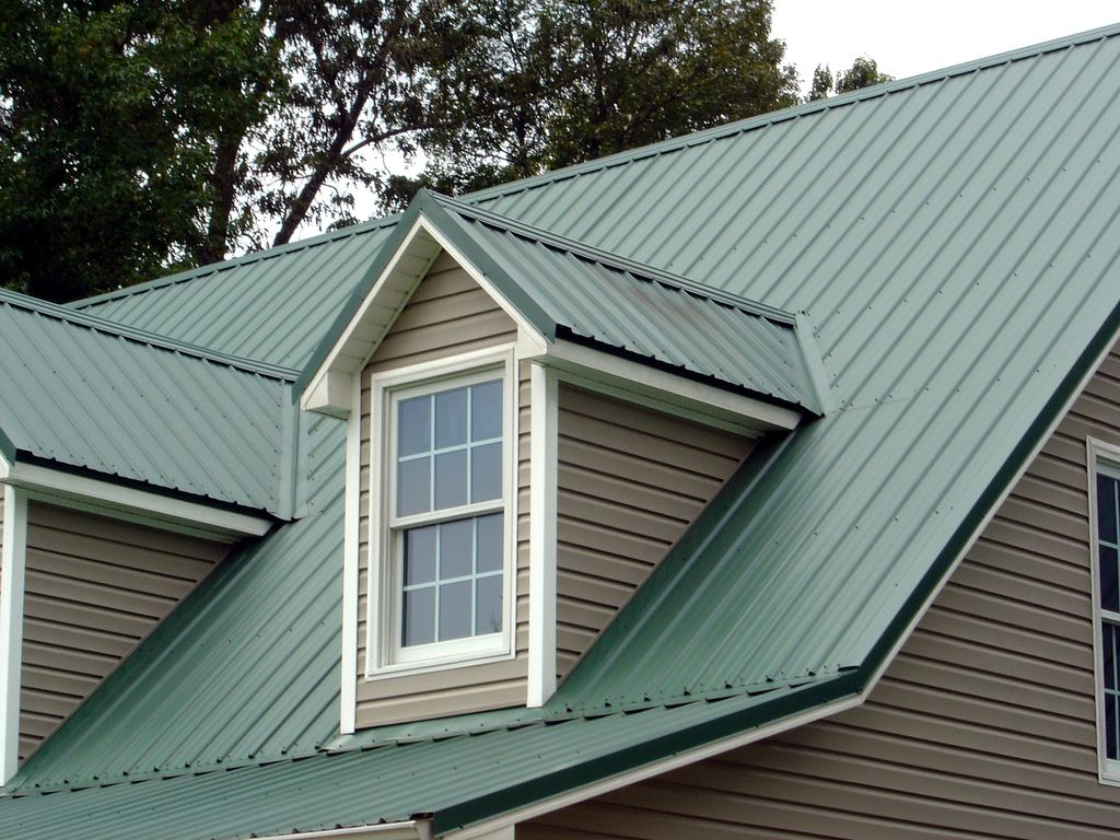 Green Standing Seam Roof Metal Shed Turned Glam Metal