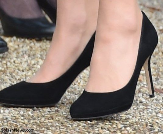 3fb371e61c42 The Duchess of Cambridge supports East Anglia s Children s Hospices Appeal  in Norfolk. Kate wore her black suede Jimmy Choo Aimee Pumps.