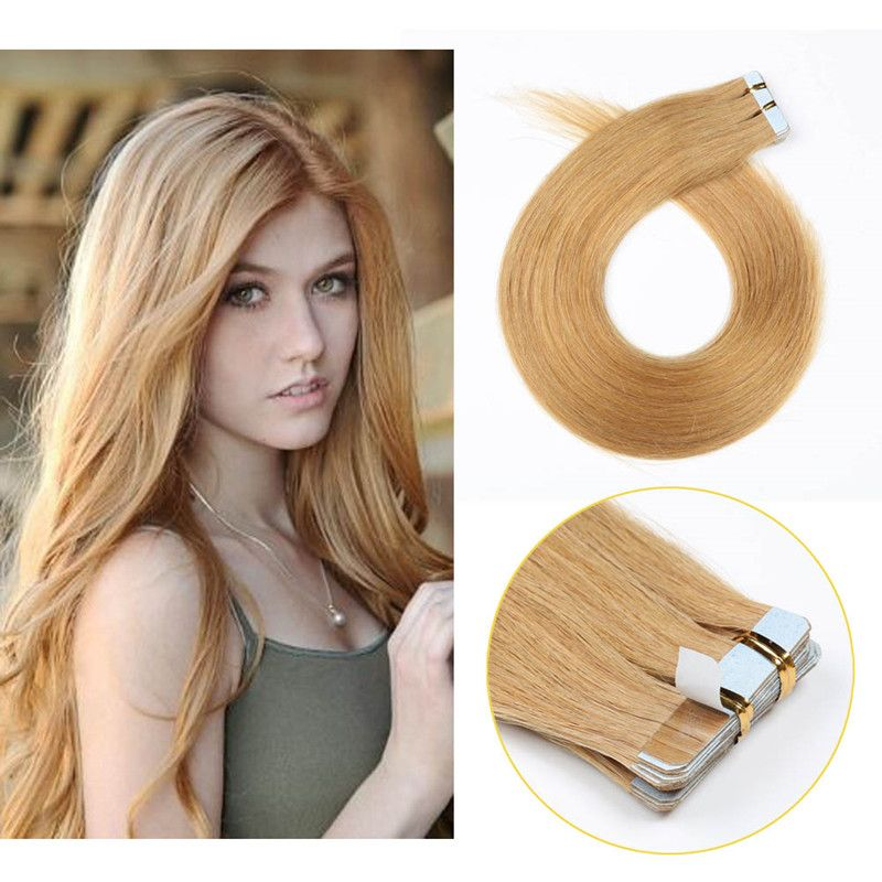 10a Grade 16inch To 24inch Tape In European Human Hair Extensions