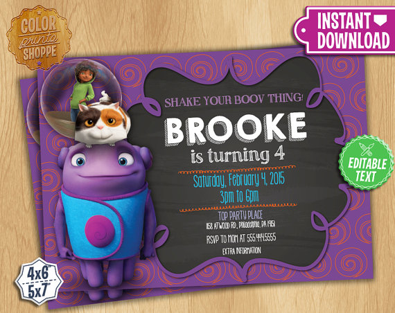 home invitation instant download customizable birthday party