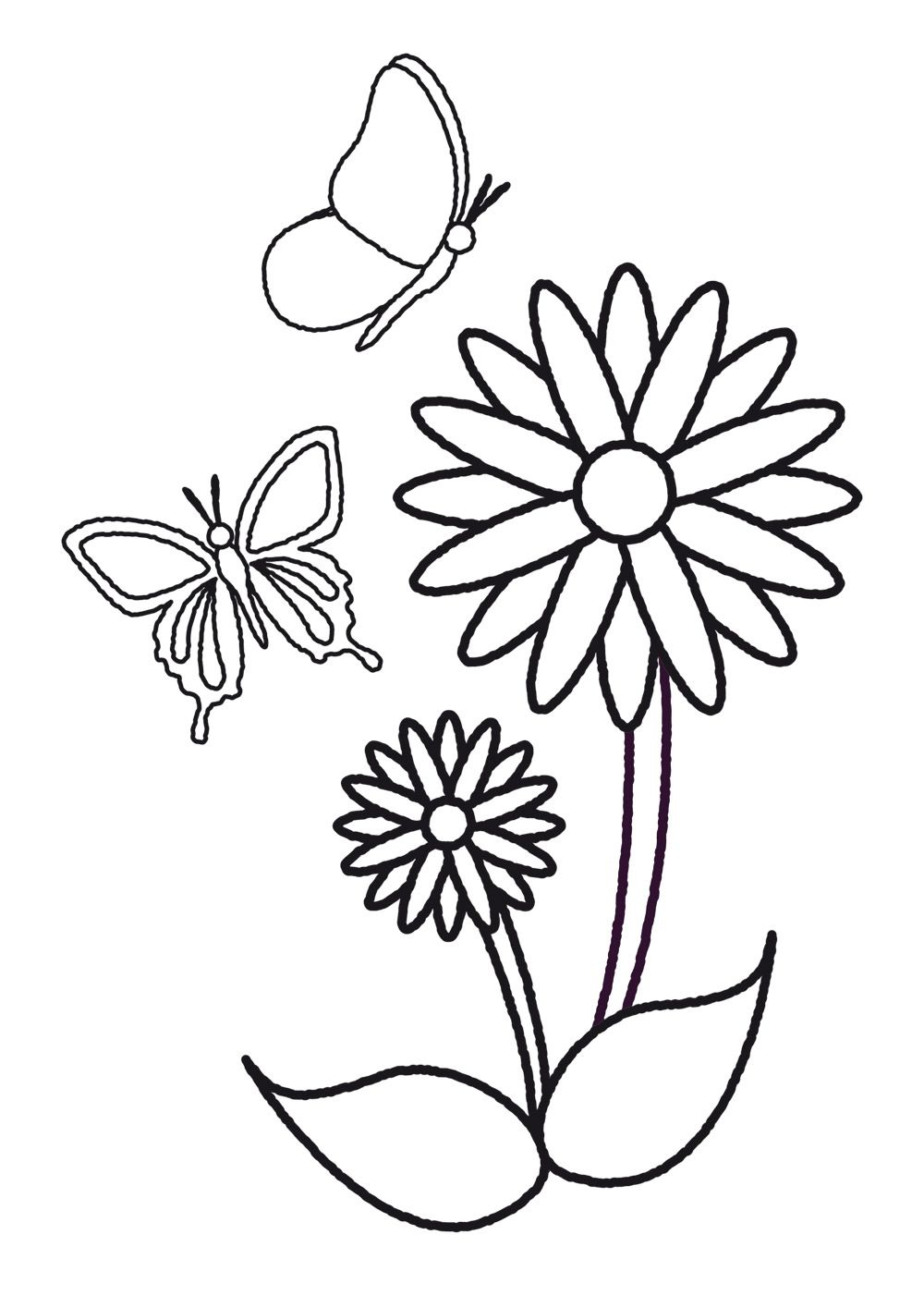 plantillas de flores y mariposas para colorear | DIBUJOS PARA ...