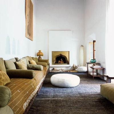 Bohemian Style Interiors, Living Rooms and Bedrooms Modern, Living